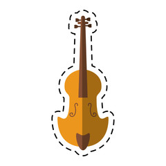 cartoon fiddle classical music instrument vector illustration eps 10