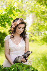 bride and her ferret