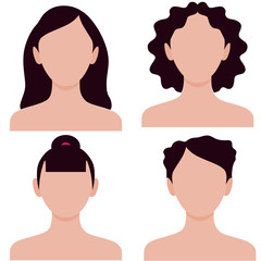 Many different hairstyles for women