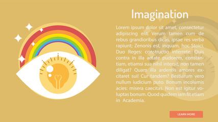 Imagination Conceptual Banner