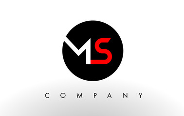 MS Logo.  Letter Design Vector.