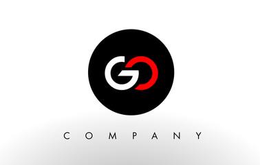 GO Logo.  Letter Design Vector. Fototapete