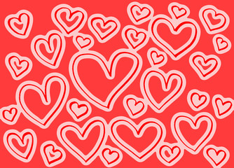Background with abstract hearts pattern