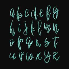 Vector golden lowercase alphabet