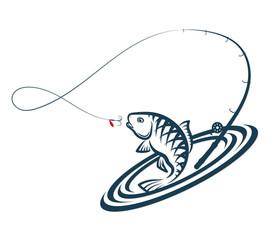 Fishing silhouette design