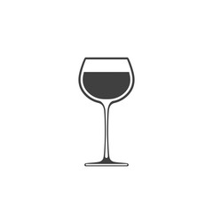 Goblet of wine icon, wineglass placed on white background