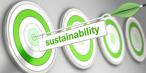 sustainability / Zielscheibe