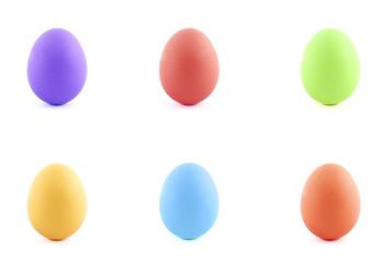 яйцо цветное на праздник пасха изолированное много разные