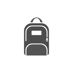 Dark backpack icon on a white background