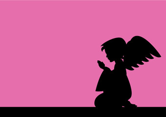 Praying Angel Silhouette