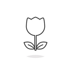 Tulip flower icon outline