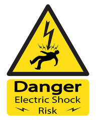 Electrocuted Man Risk Sign