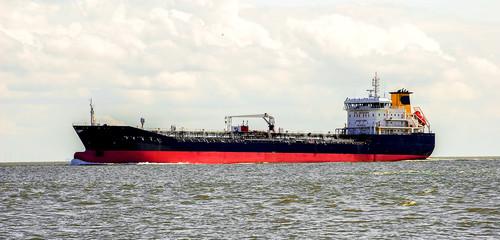 Tankschiff auf dem Meer