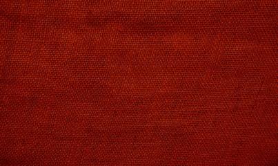 Alte Textur aus Stoff mit roter Farbe