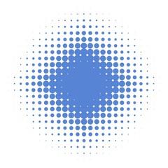 Punkterverlauf blau mit Sternmuster