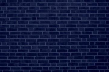 Backsteinmauer dunkelblau als Hintergrund