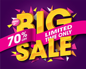 Sale with abstract triangle elements. Vector illustration