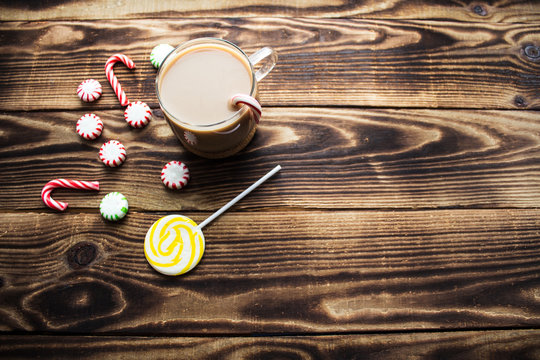 hot cocoa mint candy holiday