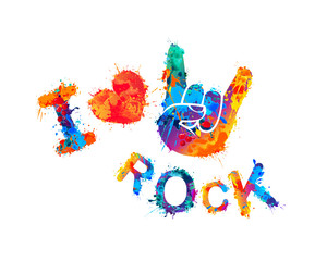 I love rock. Sign of the horns