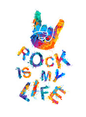 Rock is my life. Sign of the horns