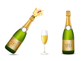 Champagne bottle celebration