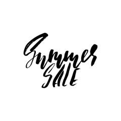 Summer Sale Inscription. Vector handwritten lettering