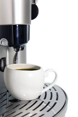 Modern Coffee Machine and a cup