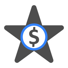Star. Business icon
