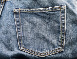 Old denim jean texture background.