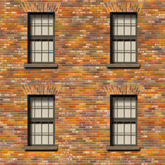 wall with windows texture
