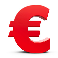 Red euro sign