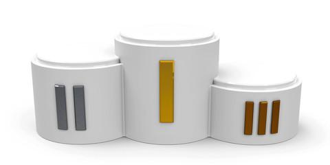 White cylinder podium roman
