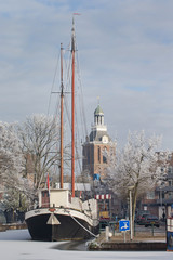 Meppel in winter Netherlands