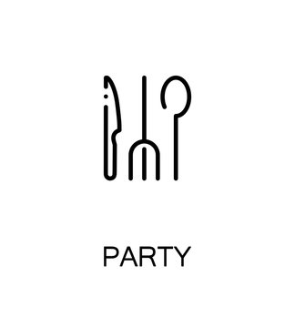 Party flat icon