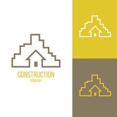 Inspiration template for real estate agencies or architectural companies. Symbol for corporate branding identity. Inspiration for advertising, business, design. Label vector icon.
