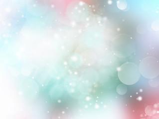 Soft pastel light green blue blurred background.