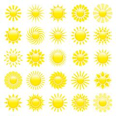 25 Yellow Sun Icons Shine