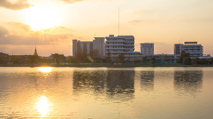 Photos Building River Town In Udon Thani, Thailand