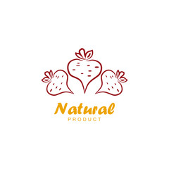 Natural product logo design vector template. Beet icon.