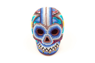 Mexican crafts multicolor skull