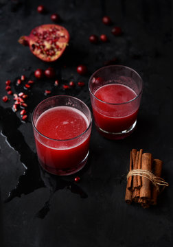 Cranberry and pomegranate gin