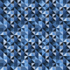 Vector Bluish Geometric Seamless Pattern.