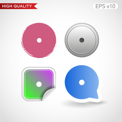 Point icon. Button with point icon. Modern UI vector.