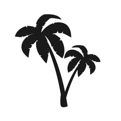 Palm tree icon symbol isolated white background nature tropical tree summer vector stock