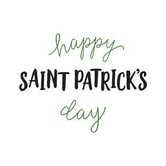 Happy Saint Patricks Day Inscription