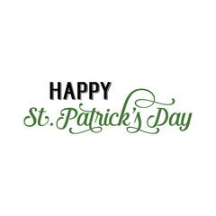 Happy St. Patrick Day Green Lettering