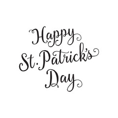 Happy St. Patrick Day Lettering