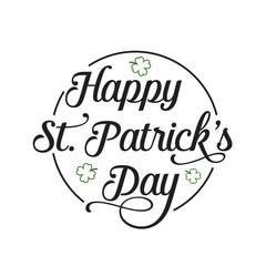 Happy St. Patrick Day Inscription, Circle