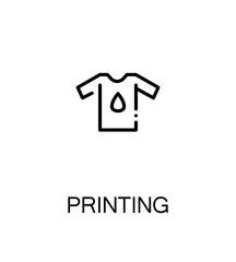 Printing flat icon