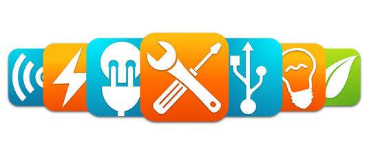 """Image Électricien photos, illustrations et vidéos de """"logo électricien"""""""